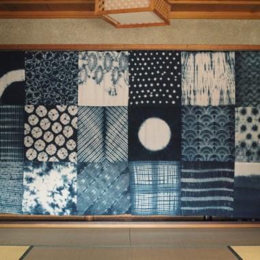 藍染めカーテン