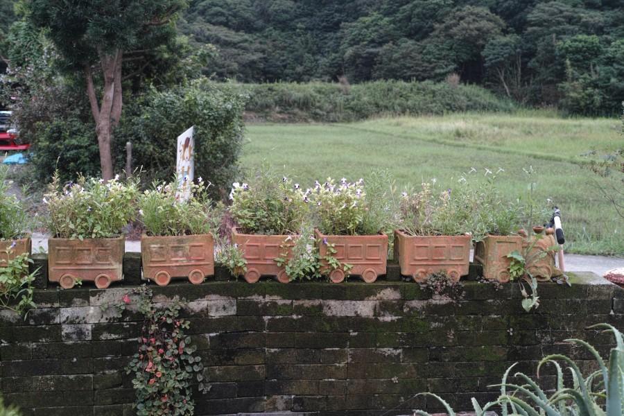 列車の植木鉢